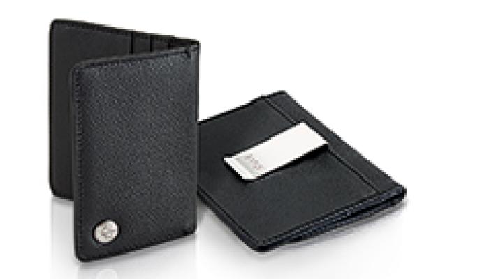 BMW Visiten- und Kreditkartenetui mit Geldscheinklammer