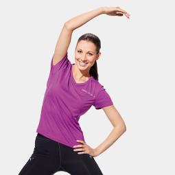 Damen Athletics Running T-Shirt, V-Neck